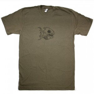 Scary Zombie Fish T-Shirt