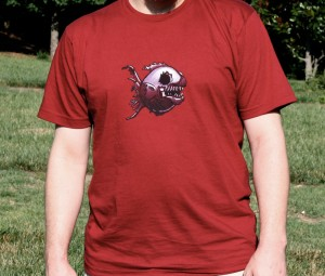 Scary Zombie Fish, unisex cranberry