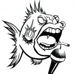 Sid Fishious B&W, ink