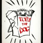 Tofu Take Out, Linoleum block print